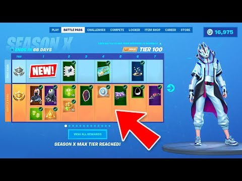 *NEW* SEASON 10 BATTLE PASS SKINS and NEW MAP LIVE GAMEPLAY! (Fortnite Season X New Update)