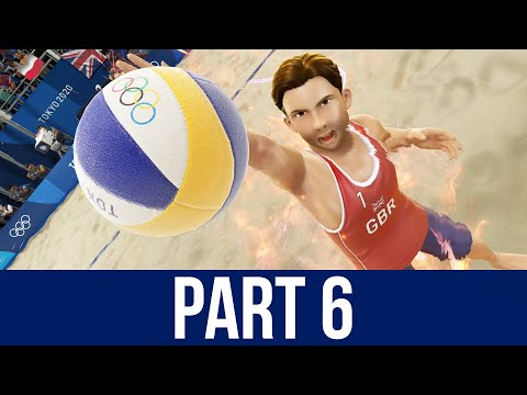 TOKYO 2020 Olympics Video Game Gameplay Part 6 - BEACH VOLLEYBALL
