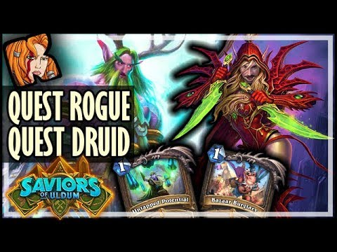 QUEST ROGUE vs QUEST DRUID! - Saviors of Uldum Hearthstone