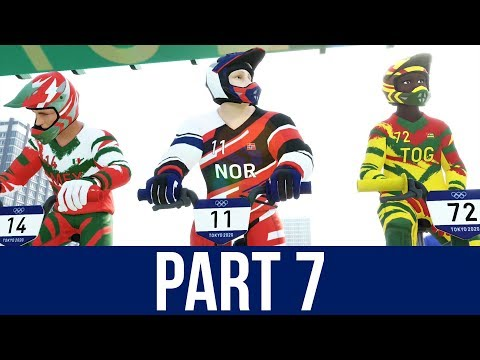 TOKYO 2020 Olympics Video Game Gameplay Part 7 - BMX & 200M MEDLEY