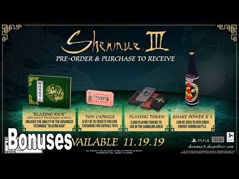 Shenmue III Pre-Order Bonuses for North America Revealed [HD 1080P]