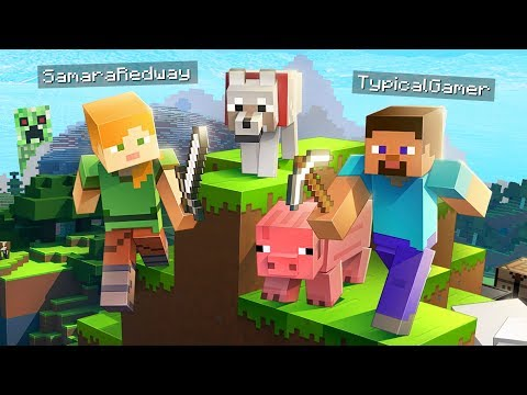 CREEPER, AW MAN!! MINECRAFT w/ MY GIRLFRIEND! (Minecraft #1)