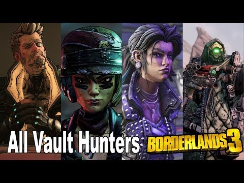 Borderlands 3 - All Vault Hunters Trailers [HD 1080P]