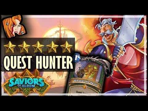 ⭐⭐⭐⭐⭐ QUEST HUNTER?! - Saviors of Uldum Hearthstone