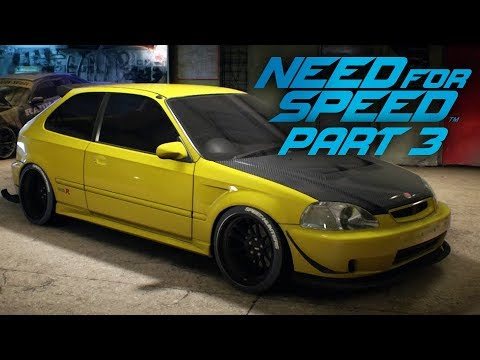 NEED FOR SPEED 2015 Gameplay Part 3 - CIVIC CUSTOMIZATION
