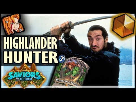 LEGEND WITH HIGHLANDER HUNTER! - Saviors of Uldum Hearthstone