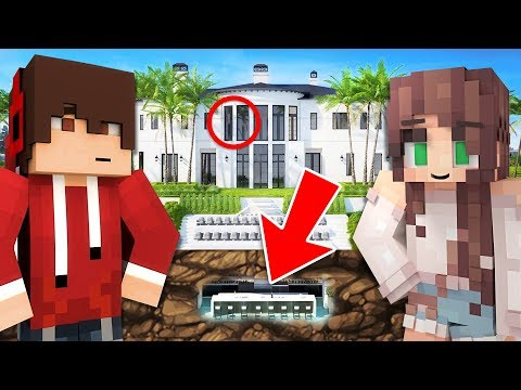 BUILDING OUR *SECRET* HOUSE!! (Playing Minecraft with My Girlfriend)