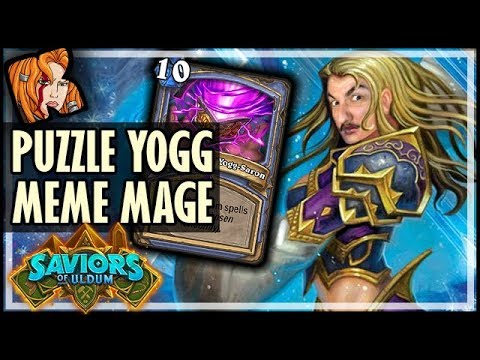 YOGG MEME-MAGE BEATS EVERYBODY?! - Saviors of Uldum Hearthstone
