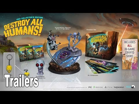 Destroy All Humans! Remake - All Special Editions Trailers [HD 1080P]