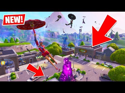 RETAIL ROW is BACK with ZOMBIES!! 100 People Landing Retail Row! (New Fortnite Update)
