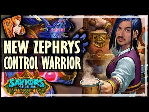 How To Use ZEPHRYS In NON-HIGHLANDER - NEW Control Warrior?! - Saviors of Uldum Hearthstone