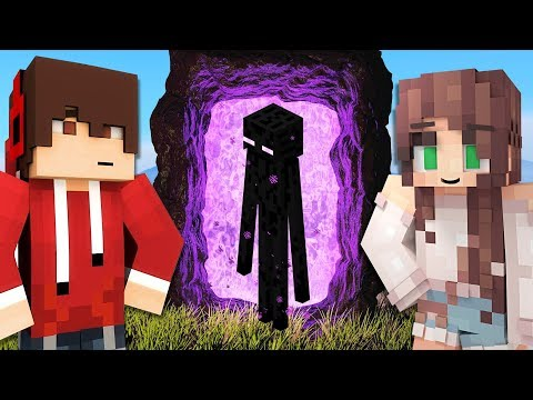 We built a SECRET PORTAL to the NETHER!! (Minecraft)