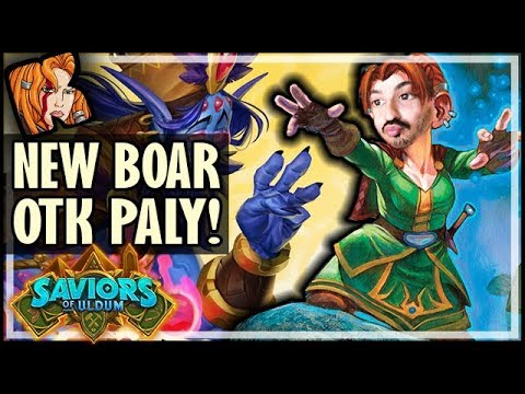 NEW BOAR OTK PALADIN DECK! - Saviors of Uldum Hearthstone