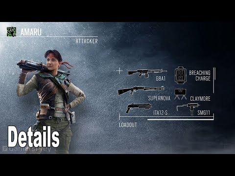 Rainbow Six Siege: Operation Ember Rise - Operators Amaru and Goyo Details [HD 1080P]
