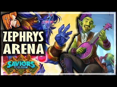 I MADE A ZEPHRYS DECK IN ARENA! - Saviors of Uldum Hearthstone