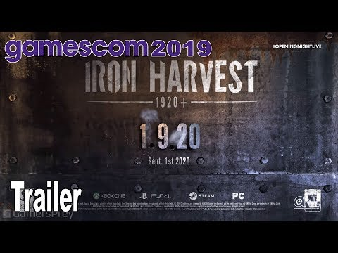 Iron Harvest 1920+ - Gamescom 2019 Trailer [HD 1080P]