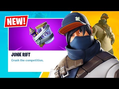 New JUNK RIFT and SHOT CALLER Item Shop Skin! (Fortnite Battle Royale)
