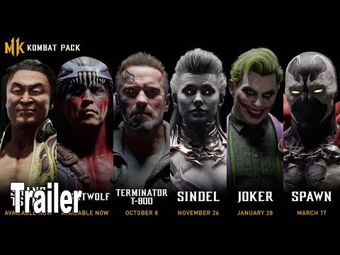 Mortal Kombat 11 Kombat Pack - Reveal Trailer (Terminator T-800, Sindel, Joker, Spawn) [HD 1080P]