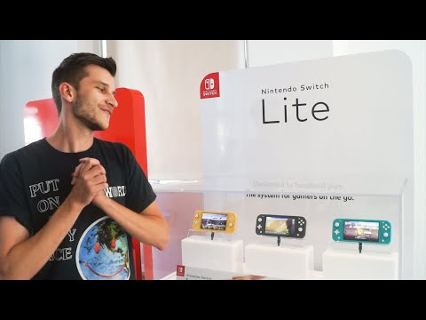 First Look At New Nintendo Switch Lite Console!