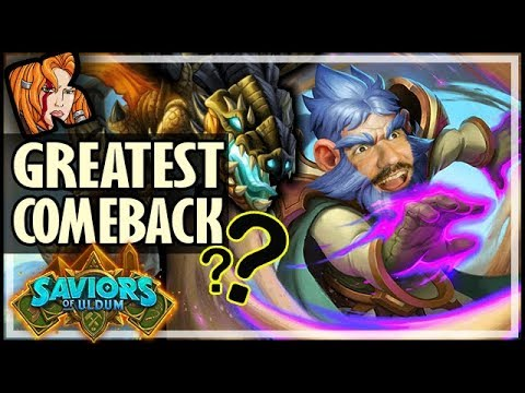 GREATEST COMEBACK EVER?! - Saviors of Uldum Hearthstone