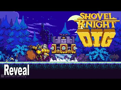 Shovel Knight Dig - Reveal Trailer [HD 1080P]