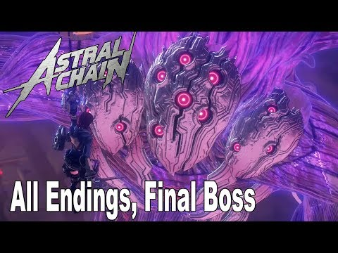Astral Chain - All Endings and Final Boss [HD 1080P]