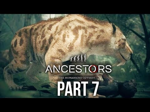 ANCESTORS THE HUMANKIND ODYSSEY Gameplay Walkthrough Part 7 - HUNTING A WHITE MACHAIRODUS