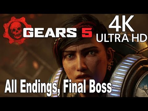 Gears 5 - All Endings and Final Boss [4K 2160P/60FPS]