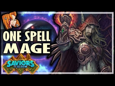 ONE SPELL MAGE?! - Saviors of Uldum Hearthstone