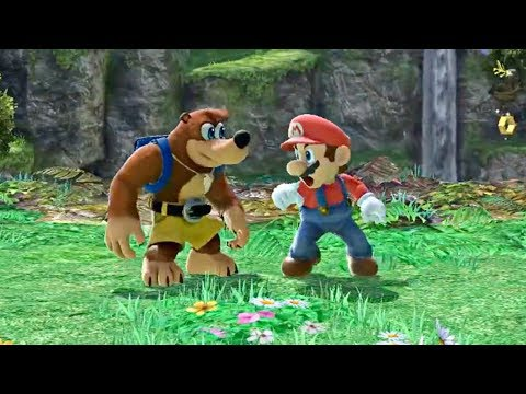 SUPER SMASH BROS. ULTIMATE - Banjo & Kazooie NEW Gameplay Demo (Switch)