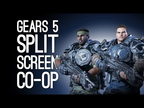 Gears 5 Split Screen Co-op Gameplay: WE LOVE DAVE (Let's Play Gears of War 5 Couch Co-op)