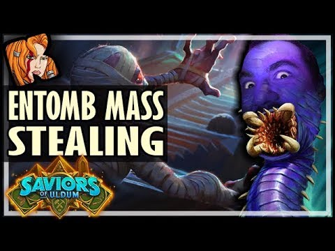 5 ENTOMBS?! What Could Go Wrong? - Saviors of Uldum Hearthstone