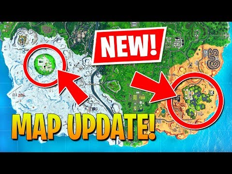 NEW UPDATE MAP CHANGES - GREASY GROVE & MOISTY MIRE!! (Fortnite Battle Royale)