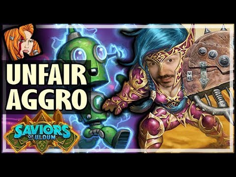 THE MOST UNFAIR AGGRO DECK EVER! - Saviors of Uldum Hearthstone