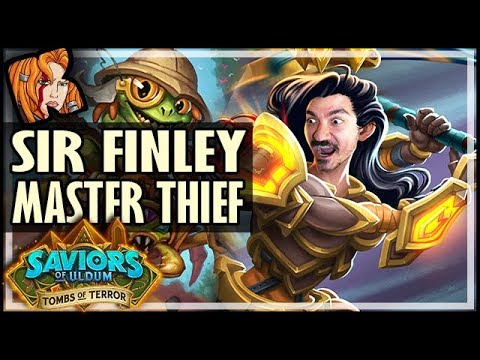 FINLEY THE MASTER THIEF! - HEROIC Tombs of Terror Chapter 1 - Saviors of Uldum Hearthstone