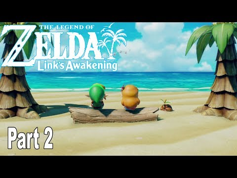 The Legend of Zelda: Link's Awakening Remake - Gameplay Walkthrough Part 2 No Commentary [HD 1080P]