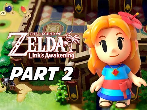 The Legend of Zelda Link's Awakening Walkthrough Gameplay Part 2 - Kanalet Castle (Nintendo Switch)