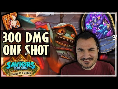 300 DAMAGE ONE SHOT CHAPTER 2 BOSS! - Tombs of Terror Hearthstone