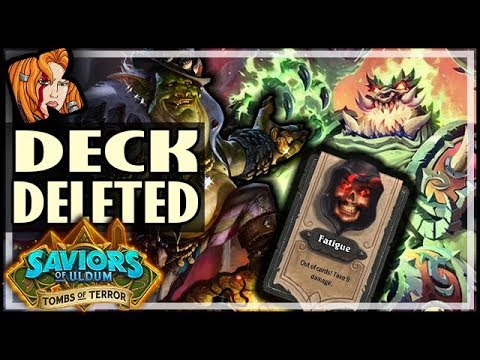 DECK DELETED! AZARI HAS NO EQUAL - Tombs of Terror Heroic Hearthstone