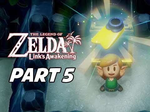The Legend of Zelda Link's Awakening Walkthrough Gameplay Part 5 - Angler's Tunnel