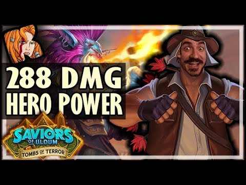 288 DAMAGE HERO POWER?! - Tombs of Terror Heroic Hearthstone