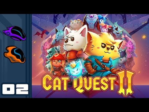 Let's Play Cat Quest 2 [Co-Op] - PC Gameplay Part 2 - Swords & Sorcery