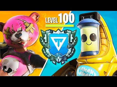 RANKING UP TO LEVEL 100!! New P-1000 ROBOT PEELY & RAGSY Skin! (Fortnite Battle Royale)