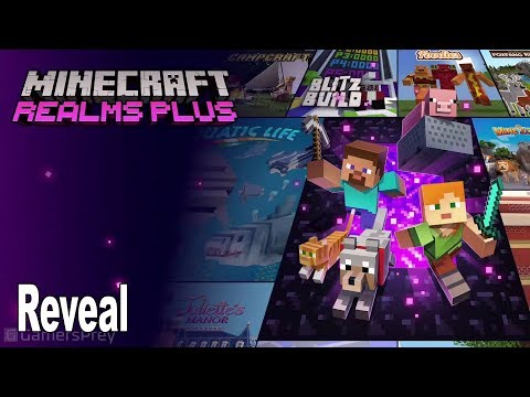 Minecraft Realms Plus - Reveal MineCon 2019 [HD 1080P]