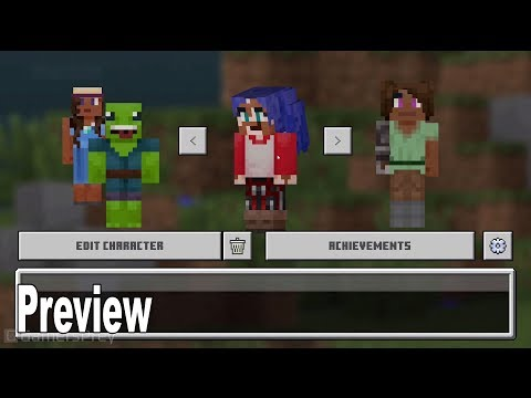 Minecraft - Character Creator Preview MineCon 2019 [HD 1080P]