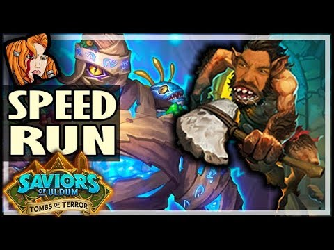 HEROES TAKE DOUBLE = TOMBS SPEED RUN! - Tombs of Terror Heroic Hearthstone