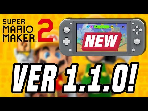 NEW Mario Maker 2 UPDATE Ver 1.1.0! Multiplayer + New Course Parts Confirmed!