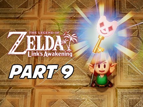 The Legend of Zelda Link's Awakening Walkthrough Gameplay Part 9 - Face Shrine & Key
