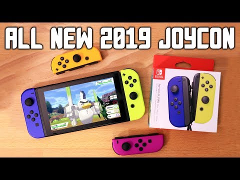ALL NEW JOY CON COLORS 2019! JoyCon Unboxing + Blue, Neon Purple, Neon Orange, Neon Yellow!