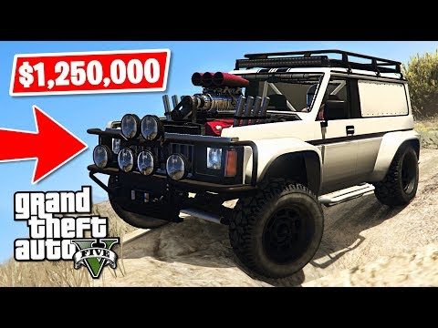 *NEW* GTA 5 4x4 Off-Road Hellion Jeep $1,250,000 Spending Spree! (GTA 5 New Cars)